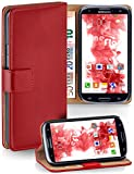 MoEx Cover a Libretto Compatibile con Samsung Galaxy S3 / S3 Neo | Fessura Carta + Soldi, Supporto, Rosso