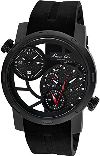 kenneth-cole-armbanduhr-herrenuhr-quarz-uhr-kc-transparency-mens-black-analoge-uhr-mit-datum-schwarz