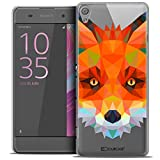 Caseink - Coque Housse Etui pour Sony Xperia XA [Crystal HD Polygon Series Animal - Rigide - Ultra Fin - Imprimé en France] - Renard