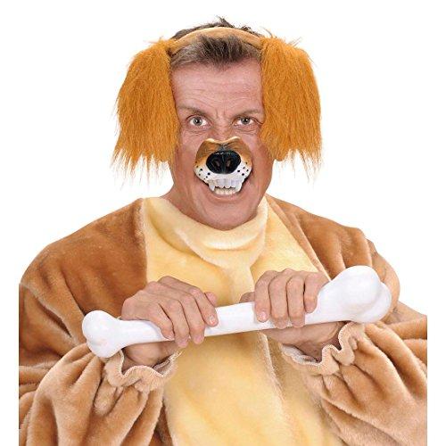 Braune Hundenase Hunde Nase Hund Tiernase Hartplastik Hundeschnauze Tiermaske Wolf Schnauze Fasching Party Tier Mottoparty Accessoire Karneval Kostüm Zubehör (Wolf Nase Kostüme)