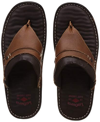 3ef22da8a2f Lee cooper 8902851844746 Mens Brown Leather Flip Flops Thong Sandals 6-  Price in India