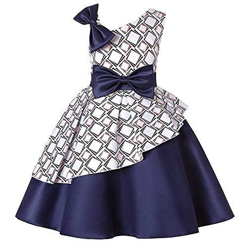 Bademode Mädchen Schulterfrei Bowknot Princess Dress Lace Mesh Blume Mädchen Kostüm Performance Bekleidung Bikinis (Color : Blue, Size : 4-5Years) -