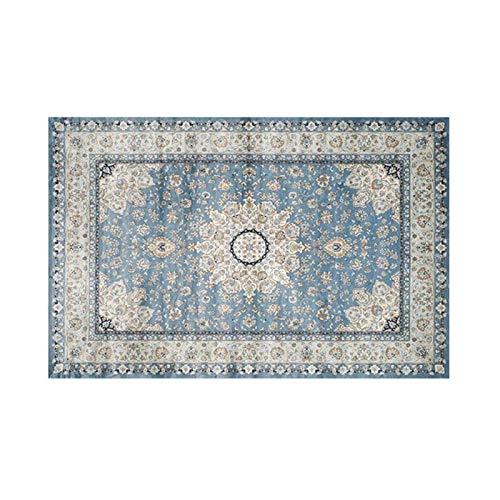 GXLO Area Rug -Oriental Persian Classic Traditional Home Dauerhafter Teppichboden Für Wohnzimmer Schlafzimmer - Leicht Zu Reinigen,D,120 * 160CM - Schwarz Persian Rug