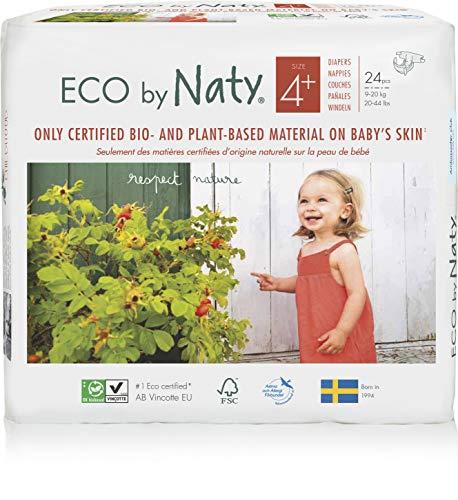 Naty By Nature Babycare Pannolini -Taglia 4+, (9-20 kg), 6 confezioni da24 [144 Pannolini]