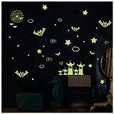 Clest F&H Halloween Decoration DIY Home Wall Sticker All Saints' Day Decor (Glow Bat Star)