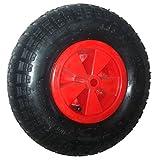 Hehilark Schubkarren Reifen Pannensicheres Schubkarre pneumatic tire Schubkarrenrad Luftreifen/Rad Ersatz-Rad Achse 120 kg Traglast