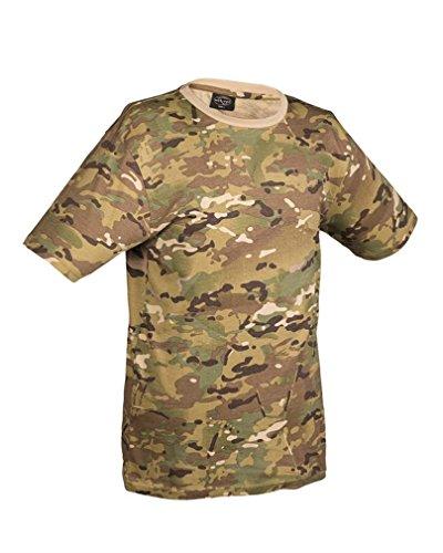 Mil-Tec Herren Nva Strichtarn T-Shirt multitarn