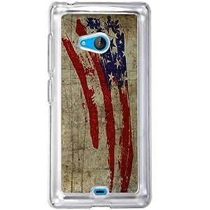 Casotec Vintage American Flag Design 2D Hard Back Case Cover for Microsoft Lumia 540