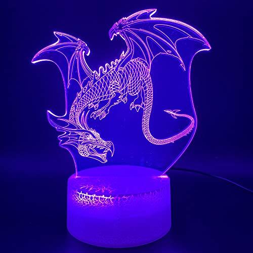 Illusion Lampe 3D Dragon Office Home Dekoration Licht Kind Geschenk Kinder Schlafzimmer Nachtlicht Dinosaurier Flugsaurier Led Nachtlicht ## 5