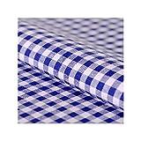 Stoff Meterware, Vichy Karo 5x5 mm, Blau Weiß, Baumwolle,