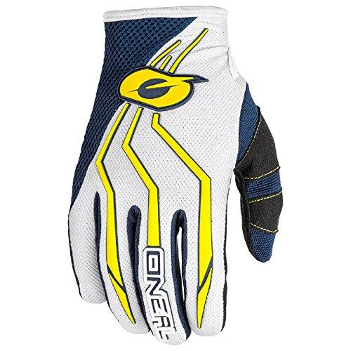 O'Neal Element MX Kinder Handschuhe Motocross TPR DH Downhill Enduro Offroad Mountain Bike, 0392, Farbe Blau Gelb, Größe M