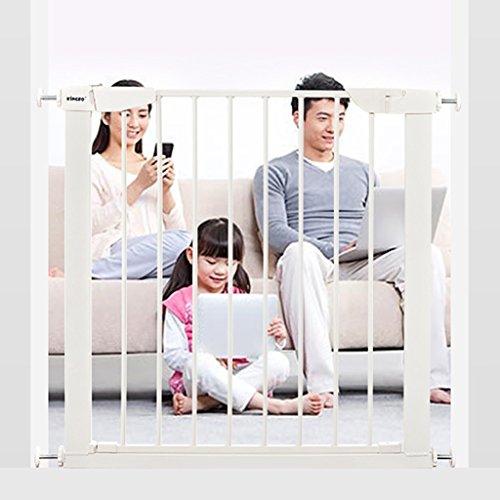 Automatisches Nahes Druck-Berg-Baby-Tor Für Treppen, Hallen Und Türen, Metall, Weiß 75-131cm Weit (größe : 82-89cm) -