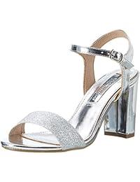 Xti Silver Glitter Ladies Sandals ., Sandales Compensées femme