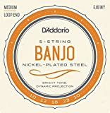 D`Addario Banjo 5-String Nickel Medium