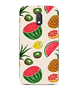 ifasho Designer Back Case Cover for Motorola Moto E3 :: Motorola Moto E (3rd Gen) (Fruits Drawings Berlin Fruits With Velcro Fruits Vegetables Toys)