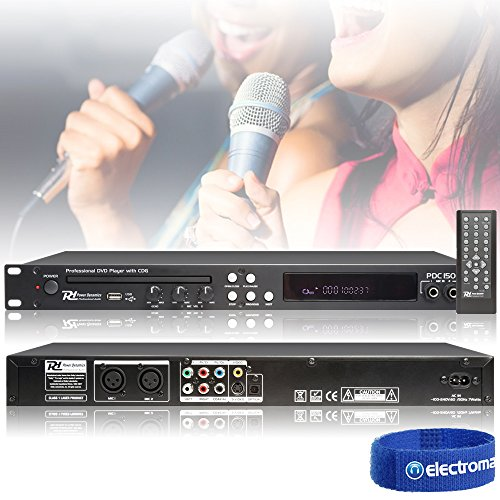 "Power Dynamics PDC150 19"" DVD/CD-Player USB Coaxial Optisch 2xMIC IR-FB"