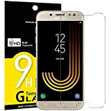 NEW'C Verre Trempé pour Samsung Galaxy J5 2017, Film Protection écran - Anti Rayures - sans Bulles d'air -Ultra Résistant (0,33mm HD Ultra Transparent) Dureté 9H Glass