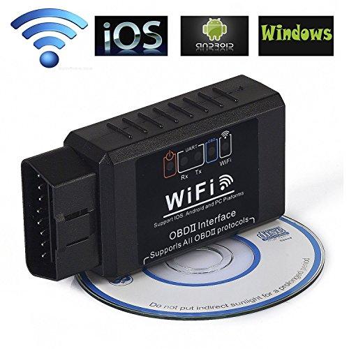 Obd-ii-scanner Wifi (iNNEXT OBDII-Scanner, kabelloser Mini-WLAN-OBD-II-Scanner, Mini, ELM327, OBD2-Diagnosescanner fürs Auto, Kartenleser für iPhone, IOS-, Android- & Windows-Geräte)