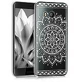 kwmobile HTC U11 Hülle - Handyhülle für HTC U11 - Handy Case in Weiß Transparent