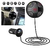 aokur Drahtloser Bluetooth USB-LCD-MP3-Player FM Übermittler freihändige Auto-Aufladeeinheit für iPhone 6 Androides Telefon