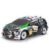 Wpond Wltoys 4WD Graffiti Gebürstet RC Fernbedienung Rallye-Auto RTR mit Sender - Geschenke für Jungen und Mädchen