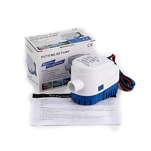 Sunsbell 1100 GPH Pompa di Sentina Automatica Barca 12V CC Sommergibile Pompa Elettrica dell'Acqua Piccolo