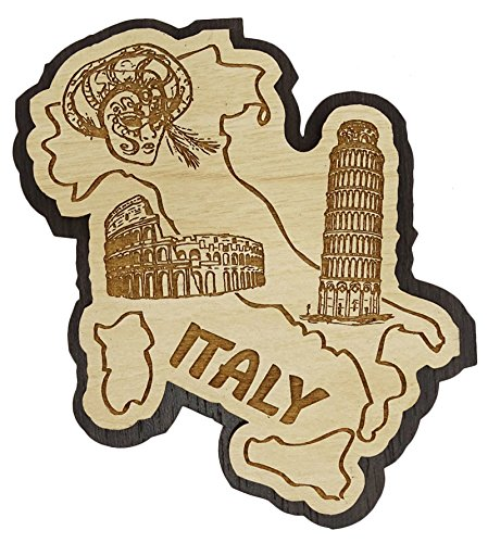 Printtoo Imanes Nevera Italia Mapa Grabado Recuerdos