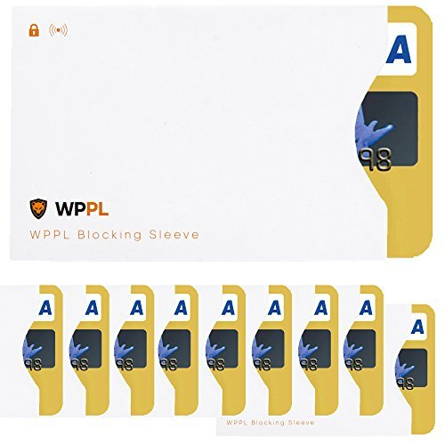 RFID Ärmel Kreditkarte Sleeve-Kreditkarte Displayschutzfolie Ärmel zum Block Daten Diebstahl-RFID-blockierender Kreditkarte für die Kredit & EC-Karten Schutz-Passt in Geldbeutel & Handtaschen -
