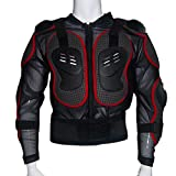 JTENGYAO Motorrad Protektoren Jacke Protektorenhemd Brustpanzer Protektor Armou(Rot)