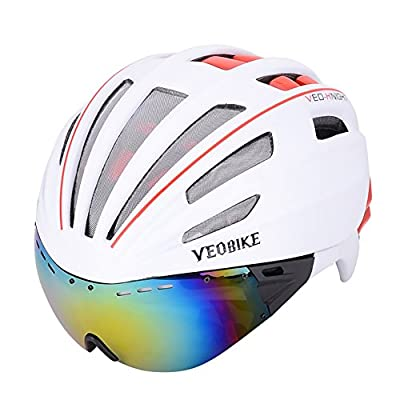 ZZY Cycle Helmet,Bike Helmet for Men Women with Safety Led Back Light Detachable Magnetic Goggles Visor Mountain & Road Bicycle Helmets Adjustable Adult Cycling Helmets from ZZY