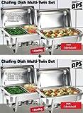 Professionista SET 4x Chafing Dish acciaio inossidabile 8x GN contenitore Vassoi di riscaldamento Scaldavivande
