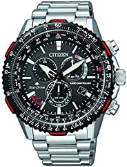 Citizen Mens Solar Powered Watch, Analog Display and Stainless Steel Strap CB5001-57E