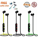 Syska H-15 Brand Universal Wireless Bluetooth Headset, Super Bass And Treble Earphone, Hands-free Calling Built-in Mic Headphone For IPhone, Samsung Phone, Windows Phone And All Android Smartphones And (Get A Mini Selfie Stick Absolutely FREE Worth Of Rs-