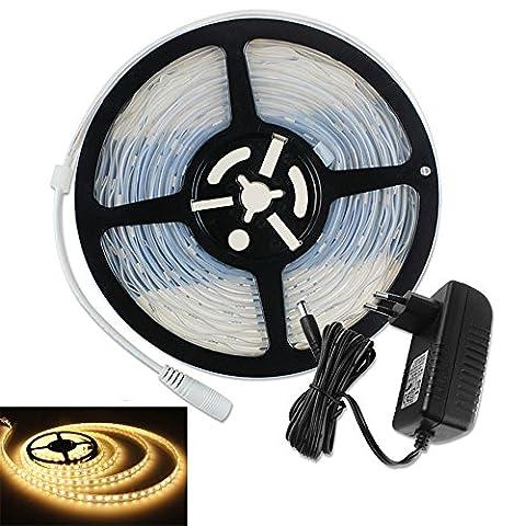 PMS 5M 5050 SMD LED Strip Leiste Streifen 300 LEDs Wasserdicht Strip Band + Netzteil Trafo (300