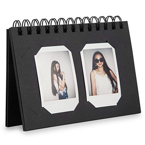 [Fujifilm Instax Mini Foto Album] - CAIUL 40 Taschen Kalender Fotohüllen für Mini 8 8+ 9 90 70 7S 25 26 50s, Instax Square SQ10 Film (Schwarz) -