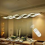 Modernen Kronleuchter, comeonlight® 60W LED Pendelleuchte LED Deckenleuchte für Wohnzimmer Schlafzimmer Esszimmer Dimmbar mit Fernbedienung