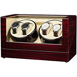 JQUEEN Automatic Wood Watch Winder storages box