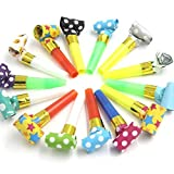 Jiada 50 Pcs Multi Color Party Blowouts Whistles Kids Birthday Party Noisemaker