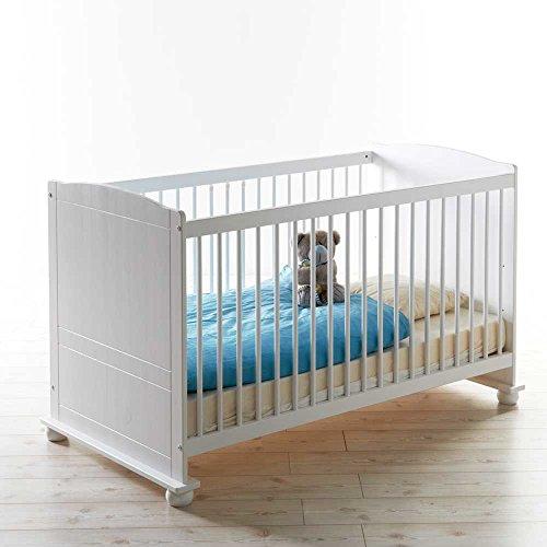 Babybett in Weiß inklusive Rollrost Pharao24
