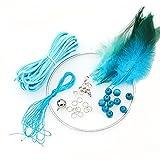 2 Stück DIY Dream Catcher Craft Kit aussagekräftige Weihnachtsgeschenke von Hand - blau