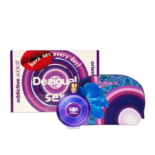 Desigual Geschenkset WomanSex EdT 100 ml plus Kosmetiktasche, 1er Pack (1 x...