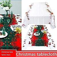 farmer-W Frohe Weihnachten Tischdecke, Weihnachten Weihnachtsmann Schneemann Muster Rechteckige Tischdecke Für Hotel, Restaurant, Home Dinning Raum Weihnachtsfeier Dekoration (59 x 70 Zoll Ungefähr)