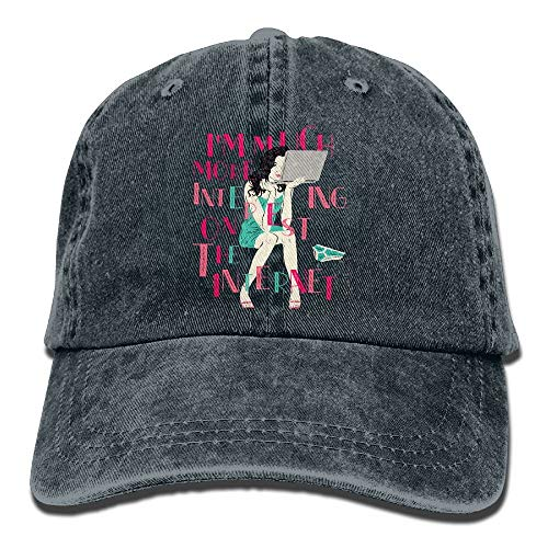 AOHOT Classic Hombre Mujer Gorras de béisbol,I'm Much More Interesting On The Internet Caps Adjustable\r\n Snapback Hat Classic