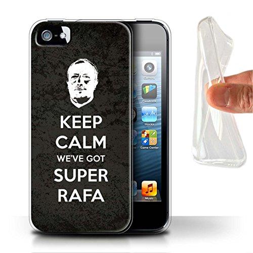 Offiziell Newcastle United FC Hülle / Gel TPU Case für Apple iPhone 5/5S / Pack 8pcs Muster / NUFC Rafa Benítez Kollektion Ruhig Bleiben