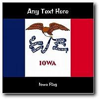 America Iowa-Bandiera Stati Uniti da parete quadrato in acrilico