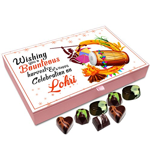 Chocholik Lohri Gift Box - Wishing You A Bounteous Harvest On Lohri Chocolate Box - 12Pc