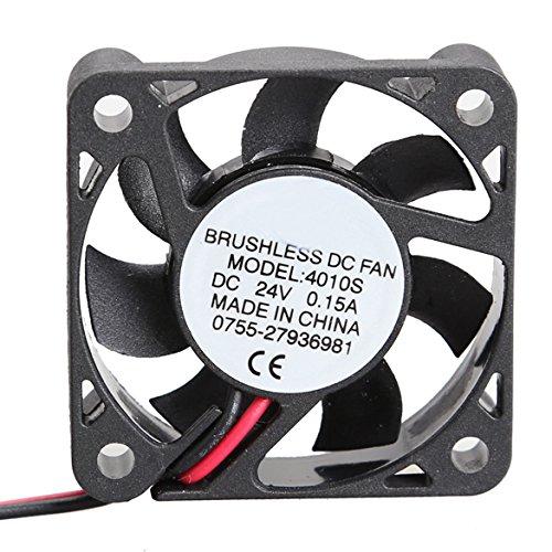 Demiawaking 4010S 24V Kühler 40x10mm Brushless DC Ventilator 7 Blades Mini Kühler Lüfter 24v 40 X 40 X 10mm