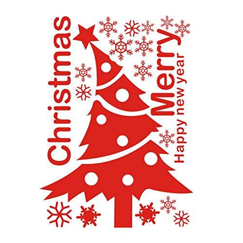 Mgdtt Schneeflocke Fensterglas Aufkleber Schrank Weihnachten, Neujahr Dekoration Kinderzimmer Tapete 65X88Cm