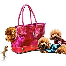 Bonita bolsa de transporte transparente para mascotas, gatos, perros, viajes, viajes,
