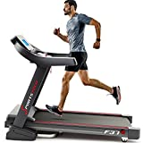 Sportstech TESTSIEGER F37 Profi Laufband bis 20 km/h, Selbstschmiersystem, Smartphone Fitness App, 15% Steigung, Bluetooth USB MP3, große Lauffläche mit Dämpfungssystem bis 130 Kg - klappbar